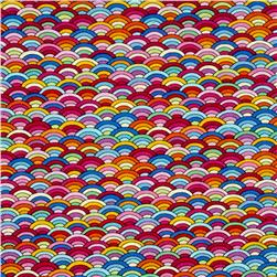 Timeless Treasures Ricki Rainbow Scallop Multi
