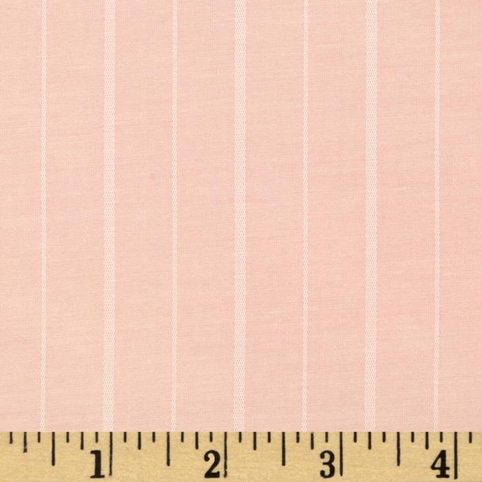 Cotton Blend Shirting Satin Pinstripe Pink