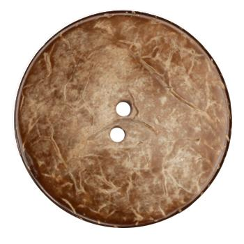 Genuine Natural Coconut Button 2 1/4'' Brown