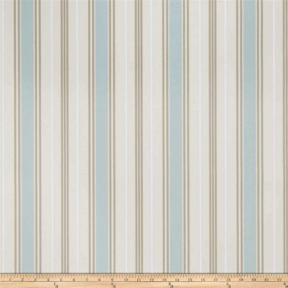 Fabricut Remi Stripe Wallpaper La Mer (Double Roll)