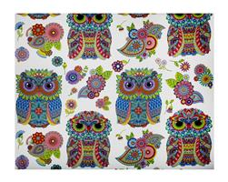 Night Bright Large Owls White