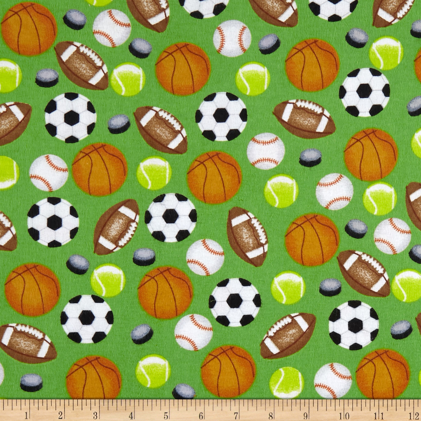 INOpets.com Anything for Pets Parents & Their Pets Sports Allover Flannel Green Fabric
