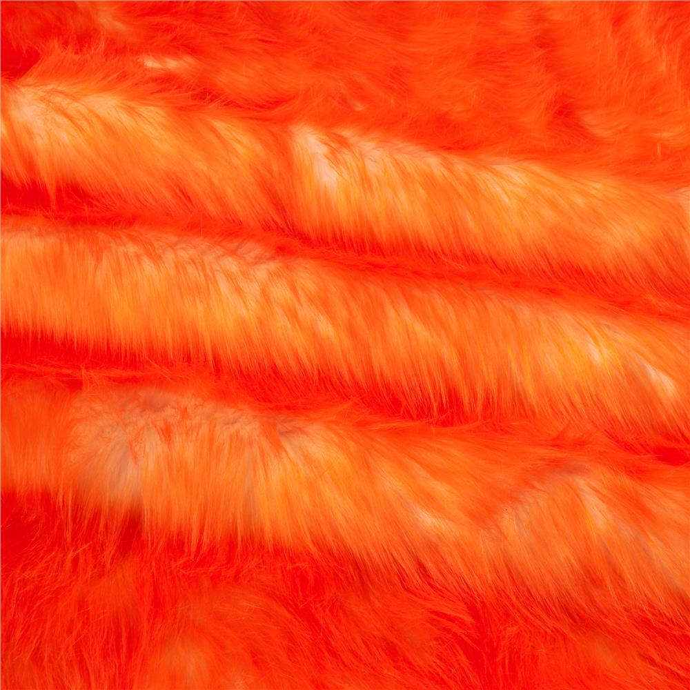Luxury Faux Fur Candy Shag Orange