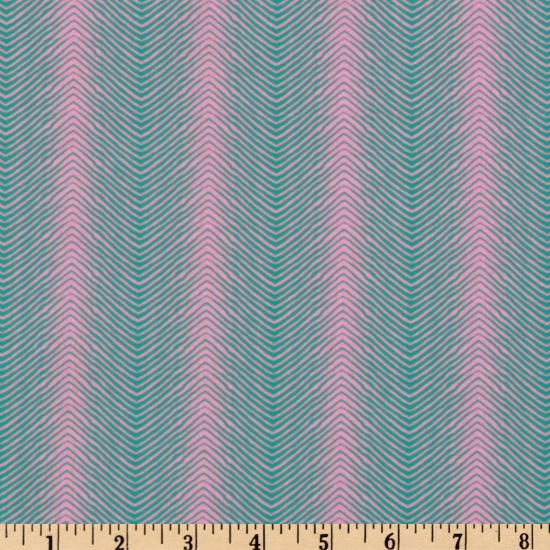 Paisley Collection Herringbone Turquoise