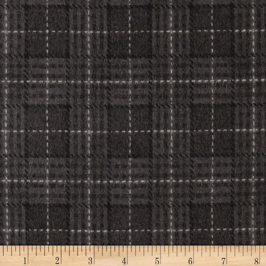 Moda Wool & Needle lV Flannels Back Forty Plaid Tractor Oil Grey