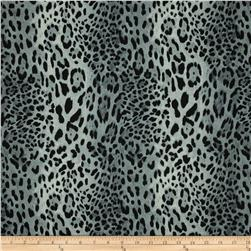 Bloom Stretch Cotton Sateen Cheetah Grey