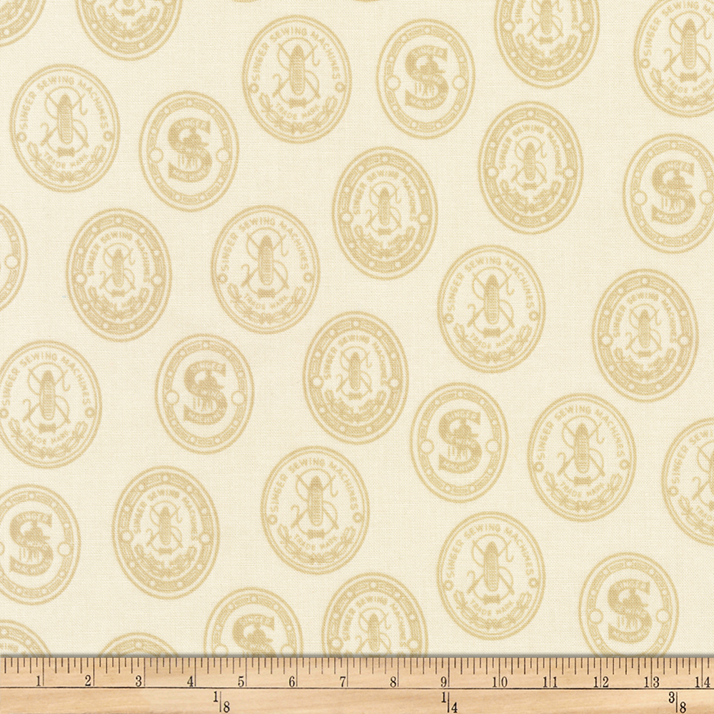 INOpets.com Anything for Pets Parents & Their Pets Kaufman Sewing With Singer Medallion Ivory Fabric