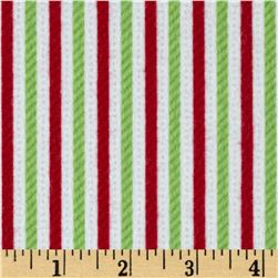 Riley Blake Home for the Holidays Flannel Stripe Multi
