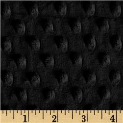 Minky Cuddle Dimple Dot Black Fabric