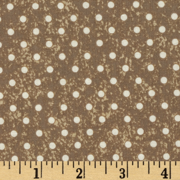 Michael Miller Bon Appetit Good Dot Taupe Fabric