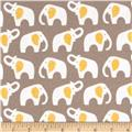 Cloud 9 Organic Flannel Elephants Gray