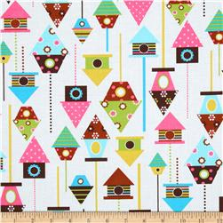 Urban Zoology Bird Houses Spring Fabric