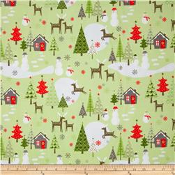 Riley Blake A Merry Little Flannel Scenic Green
