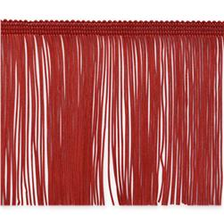 "4"" Chainette Fringe Trim Red"