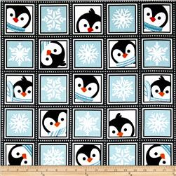 Winter Penguins Playful Penguins Winter Blue