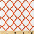 Petit Quatrefoil White/Orange