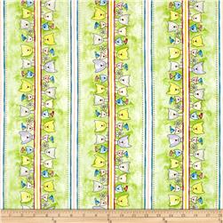 Happy Catz Cat Border Green