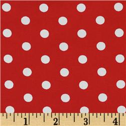 Pimatex Basics Polka Dots Red Fabric