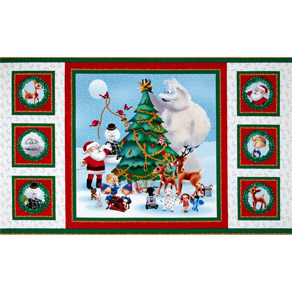 Rudolph and Friends 24 In. Scenic Patch Panel Multi Fabric By The Yard