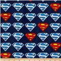 Superman Flannel Logo Blue