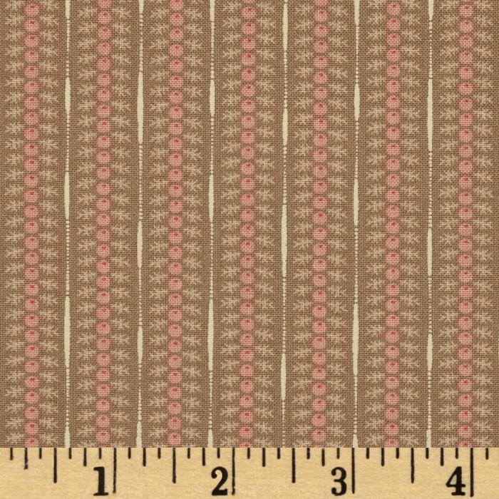 Moda Autumn Lily Flower Garden Wooden Trellis Tan
