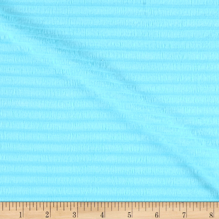 Rib Cotton Knit Baby Blue Fabric 0492580