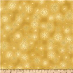 Kaufman Winter Grandeur Metallic Twinkle Gold