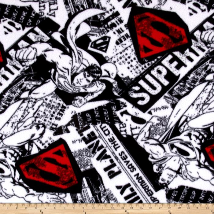 Fleece Superman News Black/Red/White