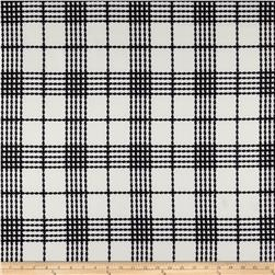 Scuba Knit Plaid Black/White