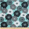 Mod About You Packed Dahlias Teal