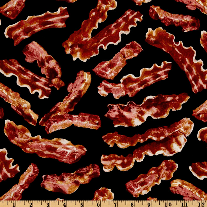 Image of Timeless Treasures Bacon Black Fabric