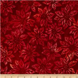 Robert Kaufman Northwood Batiks Poinsettia Leaf Holiday