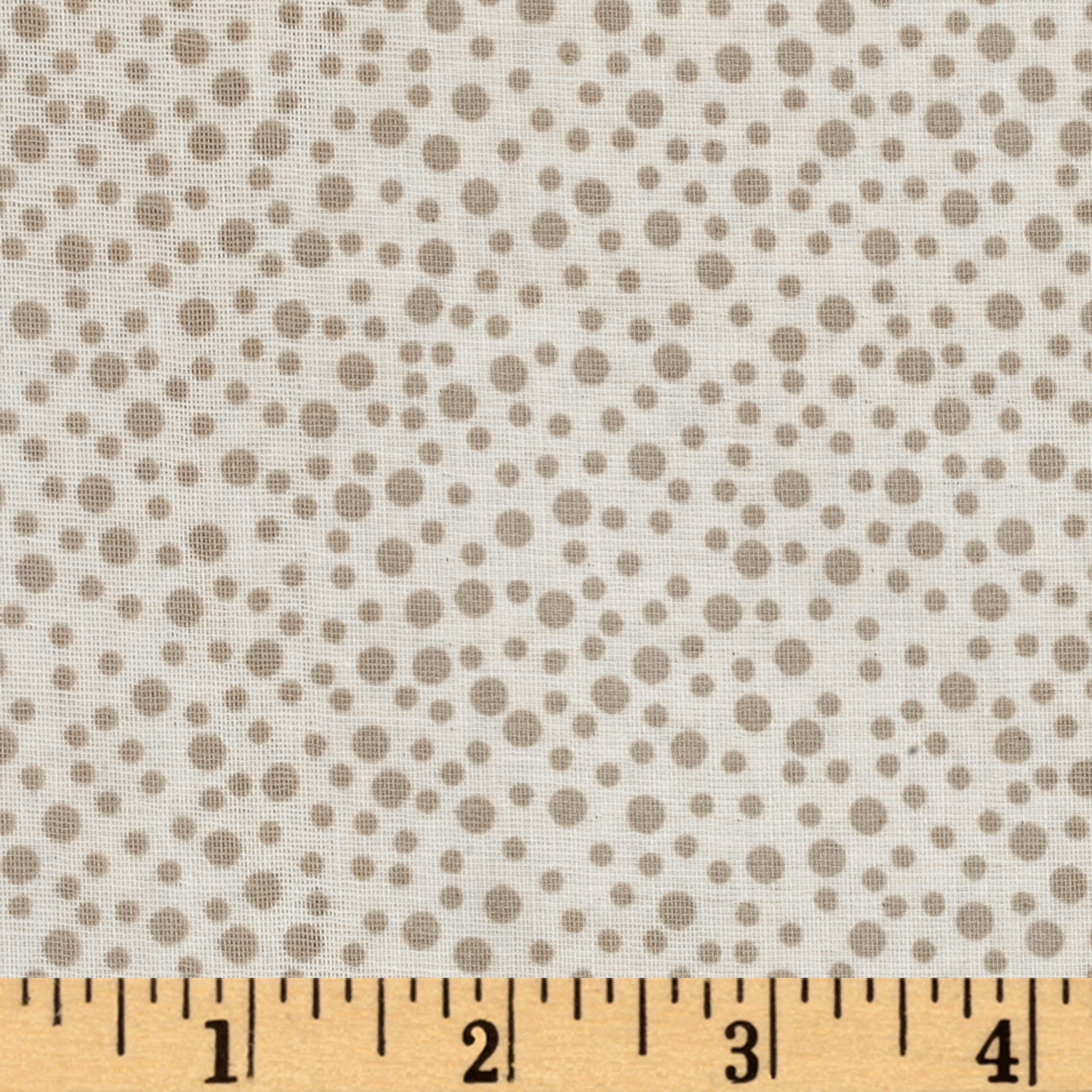 Little Bird Confetti Double Gauze Light Taupe Fabric by Eugene in USA