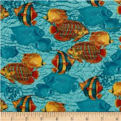 Tropical Travelogue Swimming Tropical Fish Turquoise