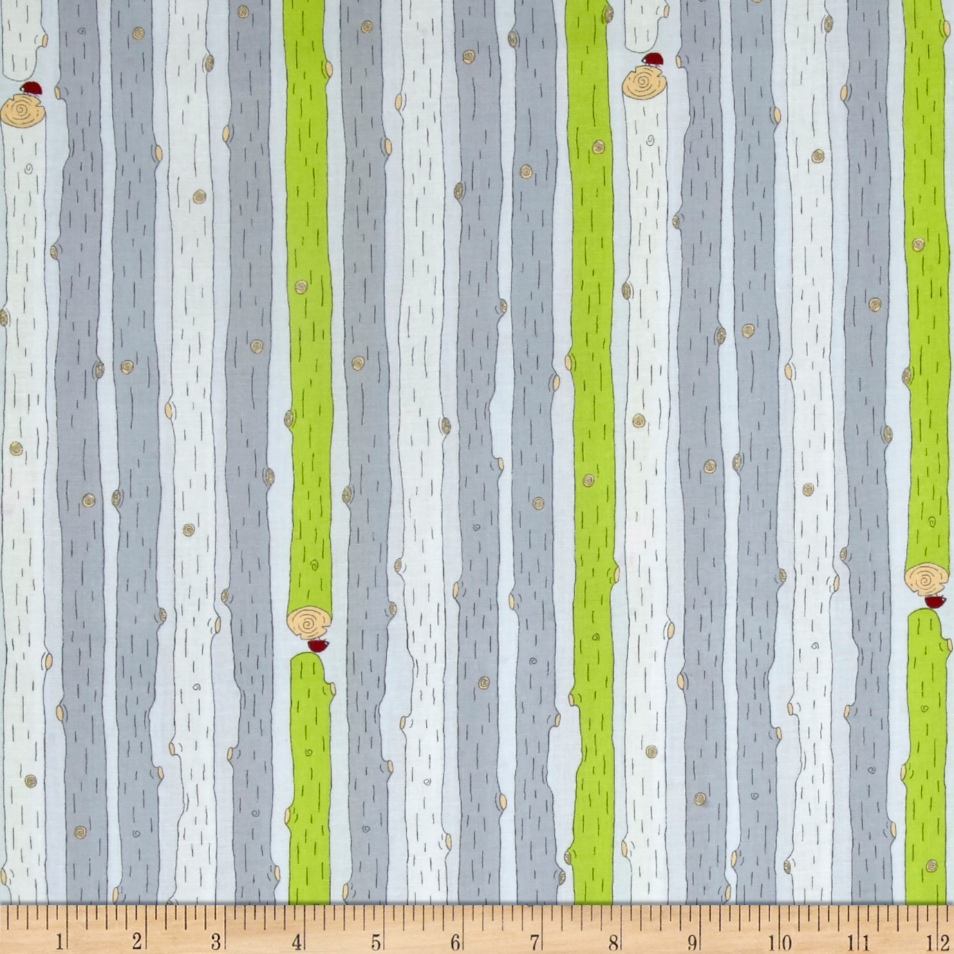 Little Ollie Logs Gray Fabric by Stardom Specialty in USA