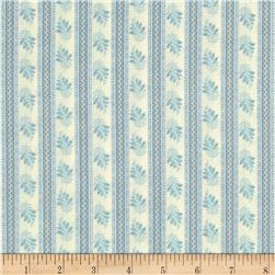 Softly Spoken Stripes & Flowers Cream/Teal