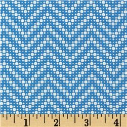 Moda Fresh Air Dotted Chevron Blue