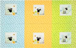 Susybee Lewe Panel Squares Green/Blue