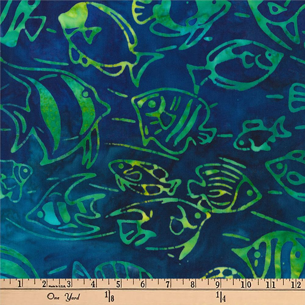 Kaufman Artisan Batiks Totally Tropical Fish Caribbean