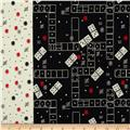 Michael Miller Classic Games Domino Effect Cherry
