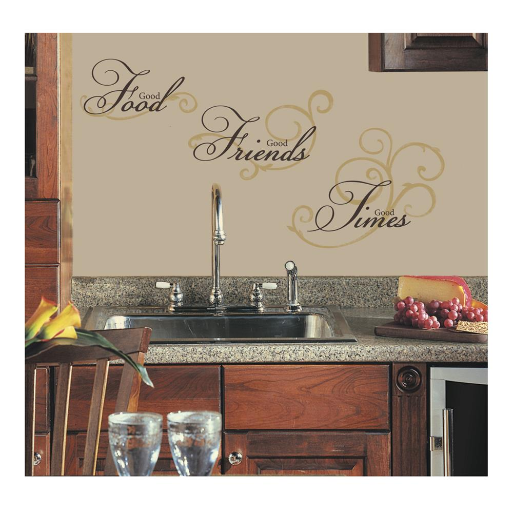 Good Food,Friends,Times Wall Decal