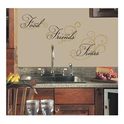 Good Food, Friends, and Times Wall Decal
