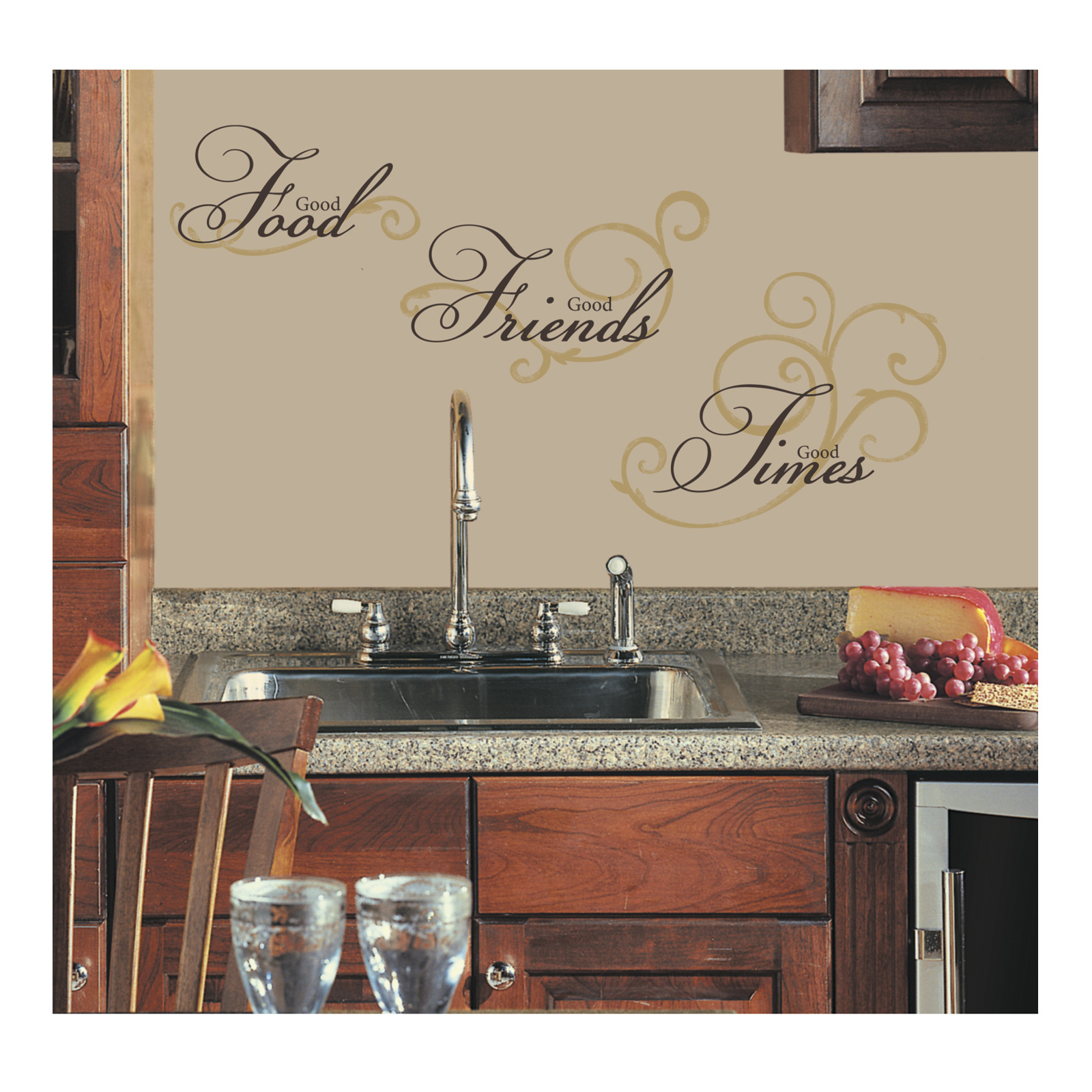 Good FoodFriendsTimes Wall Decal by Stardom Specialty in USA