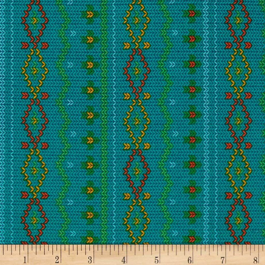 Rusty and Friends Woodland Sweater Teal