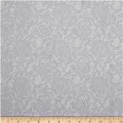 Stretch Floral Lace Ice Silver