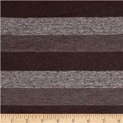 Jersey Knit Stripes Brown/Cedar