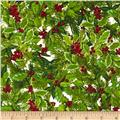 Robert Kaufman Holly Jolly Christmas Holly & Berries Holiday