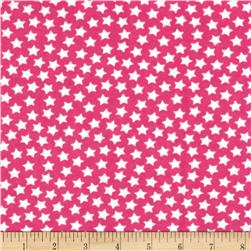 Camelot Flannel Stars Medium Pink Fabric