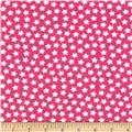 Camelot Flannel Stars Medium Pink