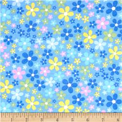 Flannel Flower Field Blue